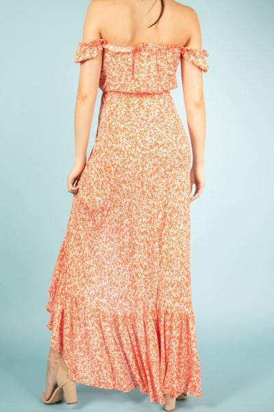 Favorite Ruffle Printed Maxi Dress