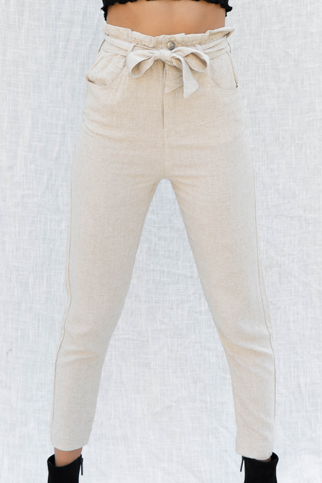 Hanna Highwaist Tie Trouser
