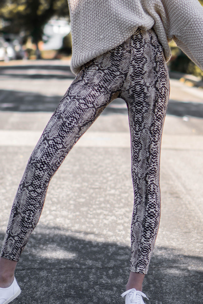 The Perfect Fit Snake Leggings