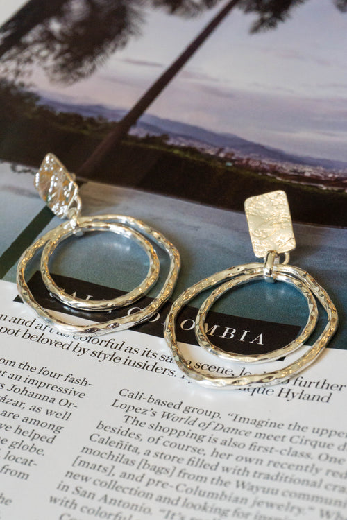 Warped Layered Hoop Earrings