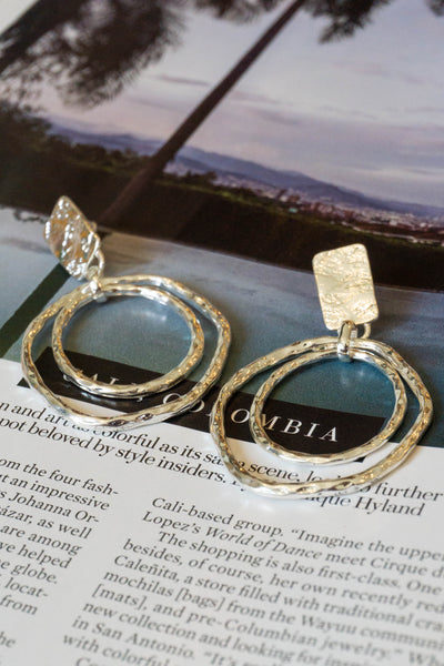 eccb570326fa0 Warped Layered Hoop Earrings