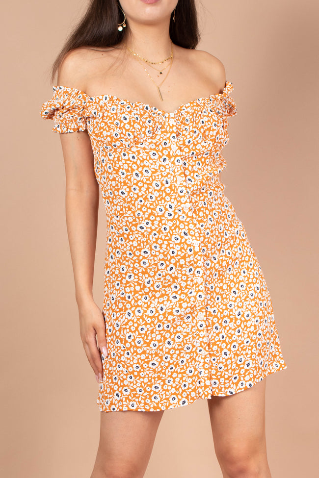 Flower Power Ruffle Dress