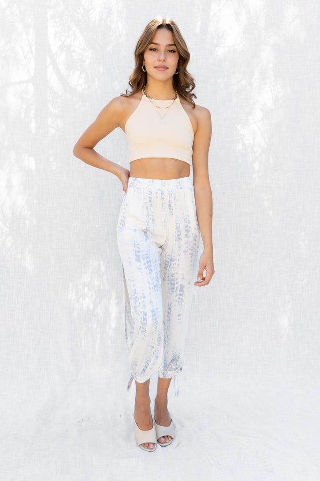 Lynne Ribbed Lace Back Crop Top