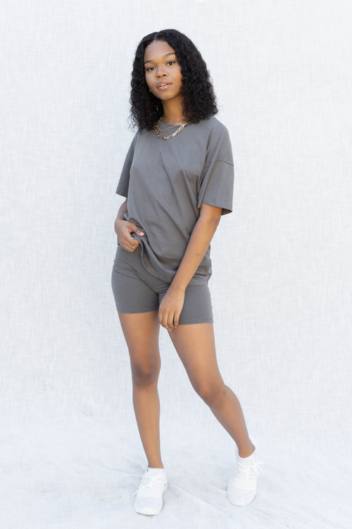 Kylie Boyfriend Tee And Short Set