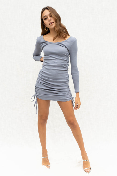 Ruby Long Sleeve Ruched Dress