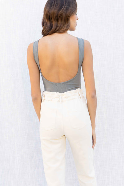 Amanda Scoop Back Tank Bodysuit