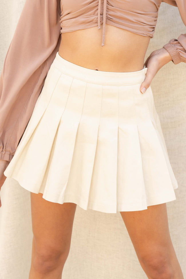 Carrie Pleated Mini Skirt