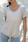 Basic Tie Front Tunic Top