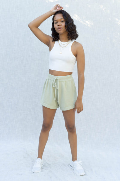 Aleah Knit High Waist Shorts