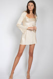 Silky Long Sleeve Mini Dress