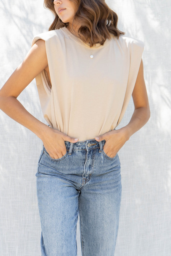 Padded Shoulder Muscle Top