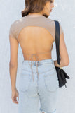 Celine Open Back Crop Top
