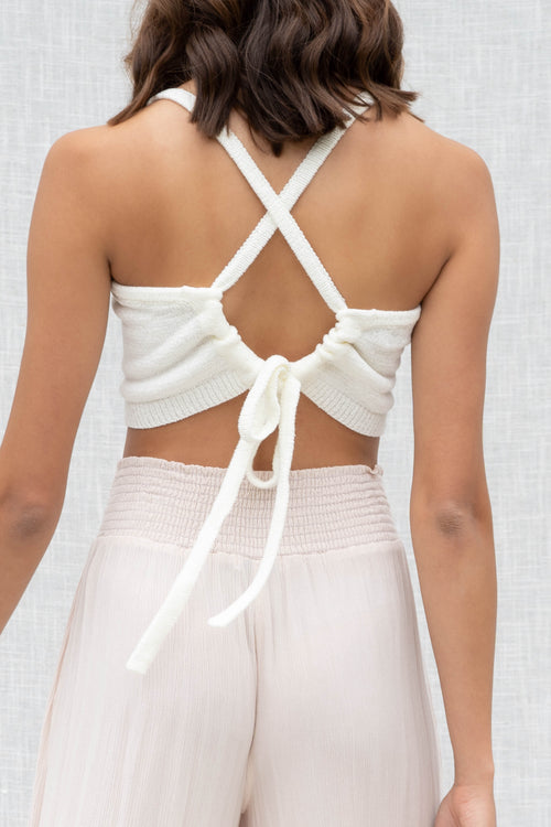 Riley Knit Cross Back Top