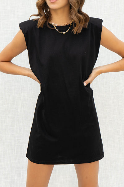 Mia Padded Shoulder Muscle Dress