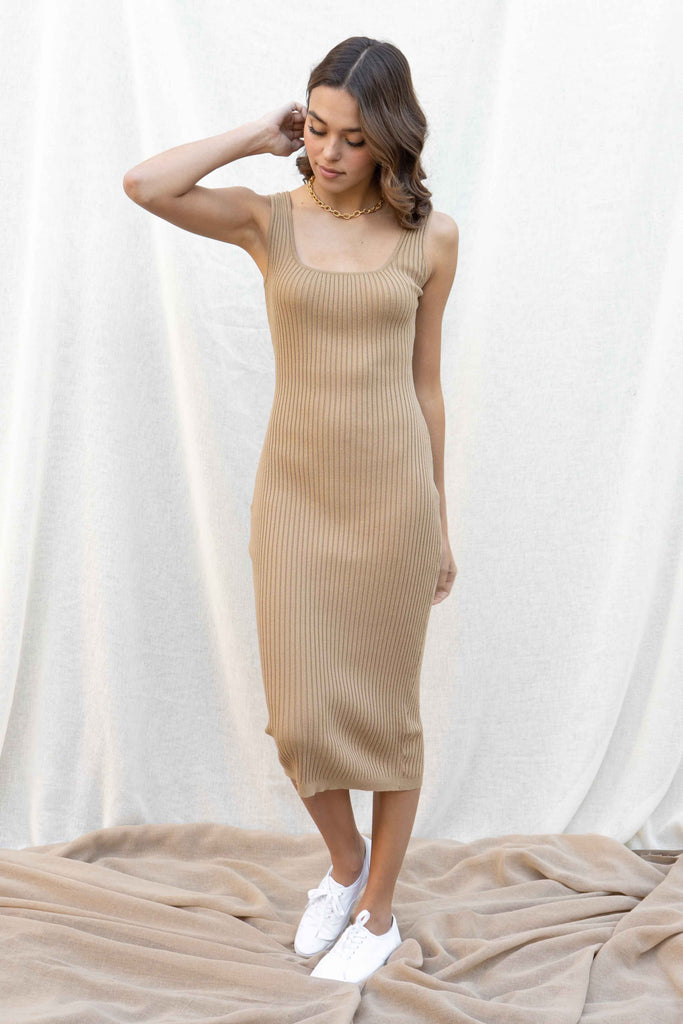 Stacy Ribbed Midi Dress