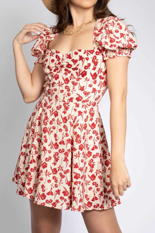 Sweetheart Neckline Mini Dress