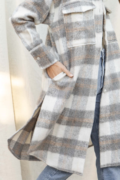 Ariella Blushed Plaid Coat