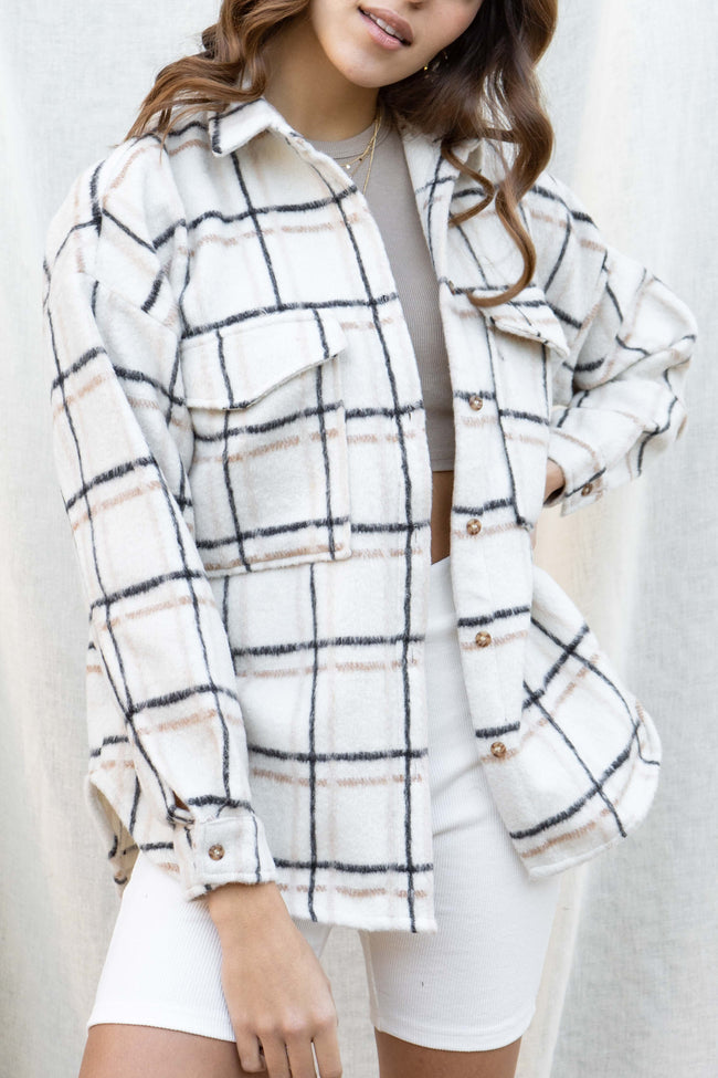 Alexa Oversized Plaid Jacket