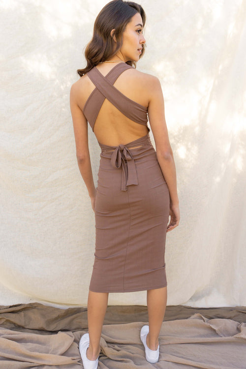 Sol Back Detail Midi Dress