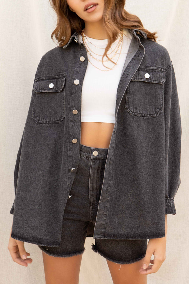 Lina Oversized Denim Jacket Set