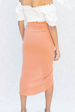 Callie Ruched Midi Skirt