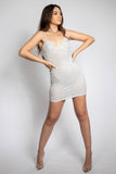Sofia White Pearl Mini Dress