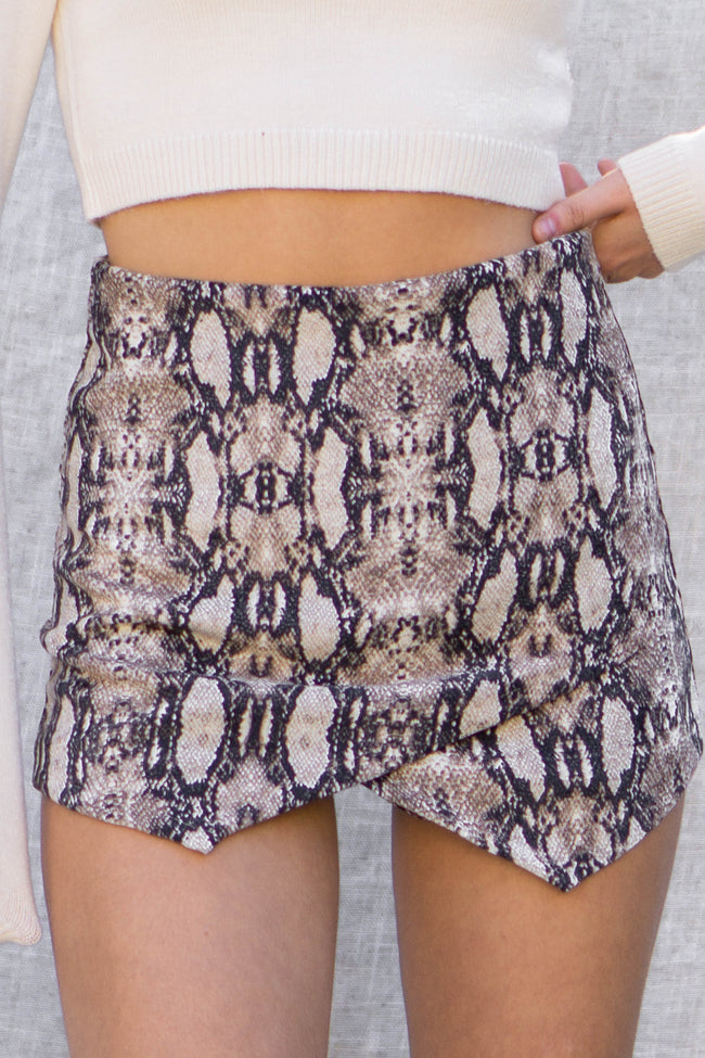 Snake Print Layer On Short