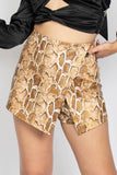 Never Enough Snake Skort