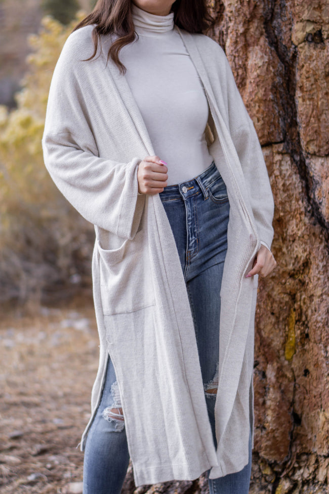 Brushed Knit Duster Cardigan