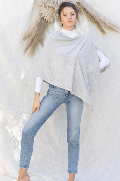 Brushed Knit Poncho Top