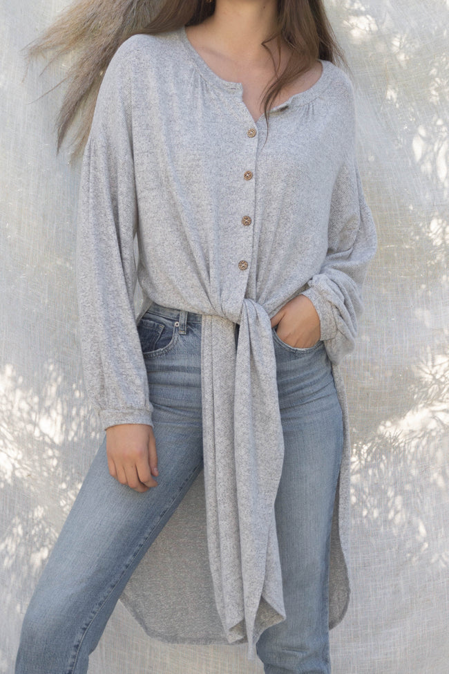 Brushed Knit Maxi Top