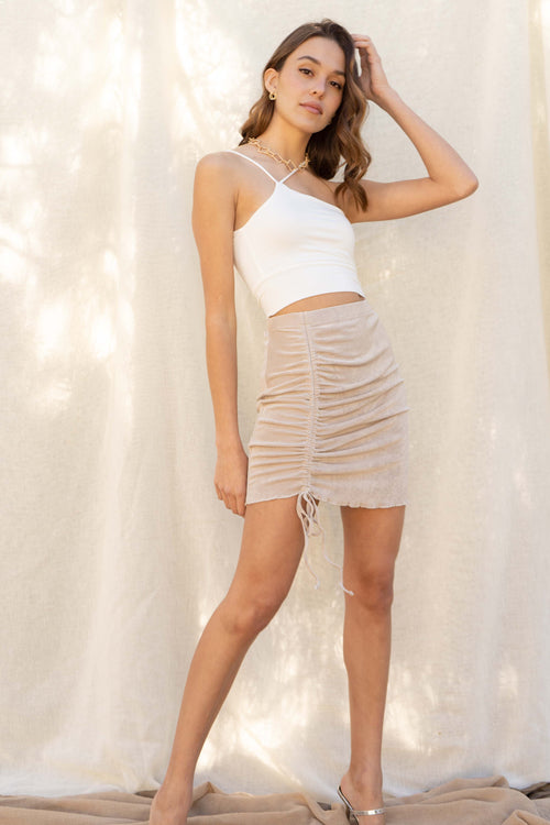 Stella Drawstring Mini Skirt