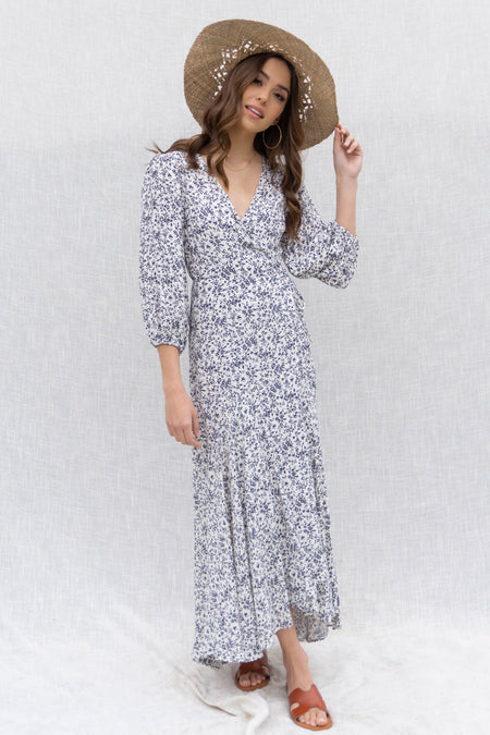 Jamie Floral Print Wrap Dress