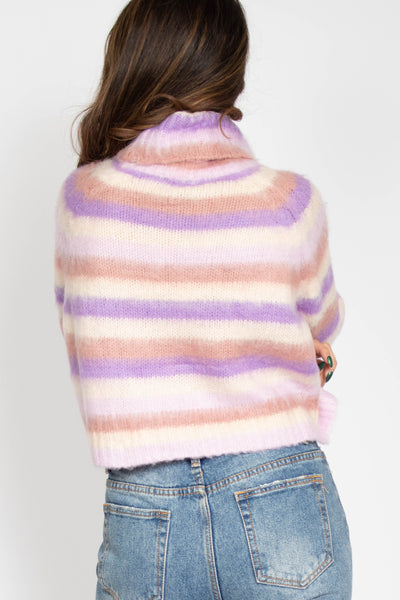Fuzzy Candy Cane Sweater