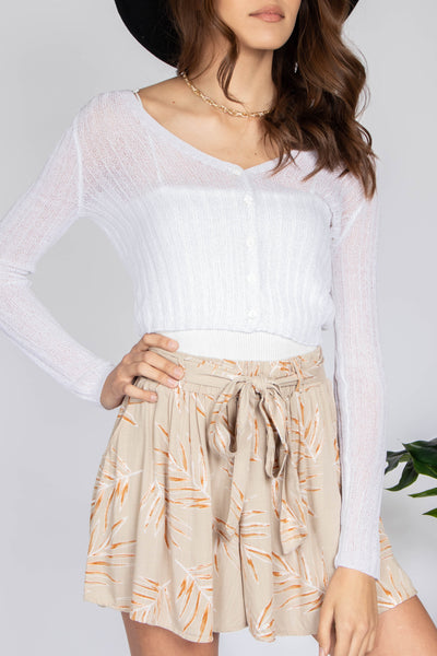 Haley Lightweight Crop Cardigan