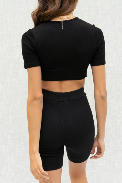 Mila Ruched Detail Crop Top