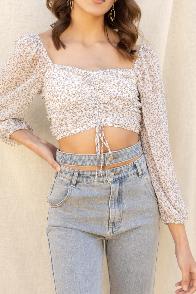 Hailey Ruched Crop Top