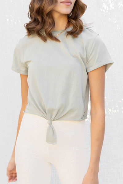 Daily Wear Tie Front Basic Top