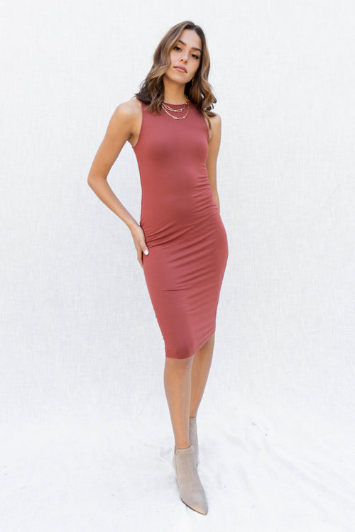Nova Double Layer Fitted Midi Dress