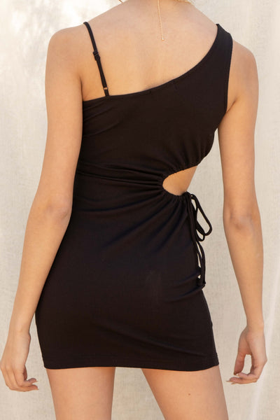 Natalia Keyhole Ribbed Dress