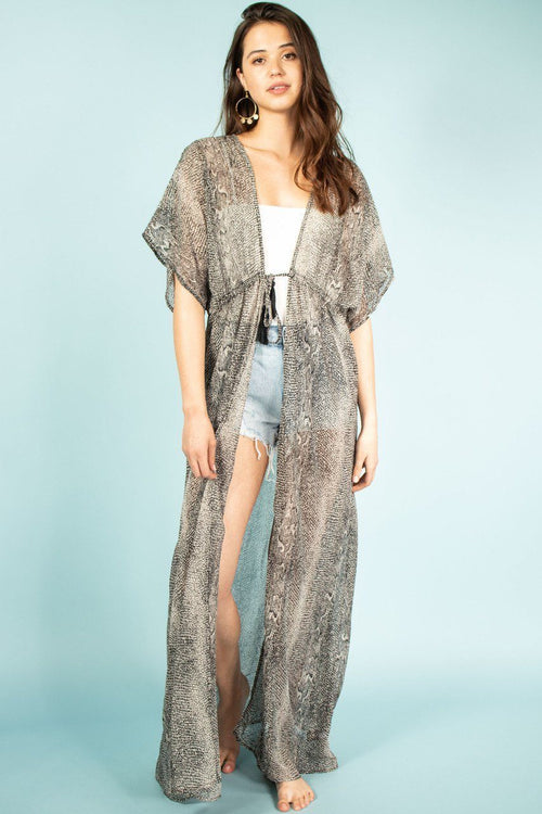 Kimono Cover Up Maxi Dress