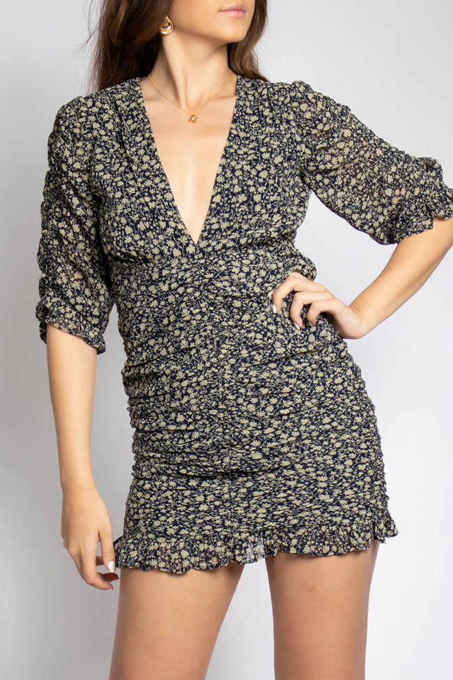 Juliet Printed Ruched Dress
