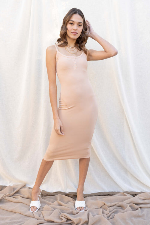 Julia Solid Ribbed Dress