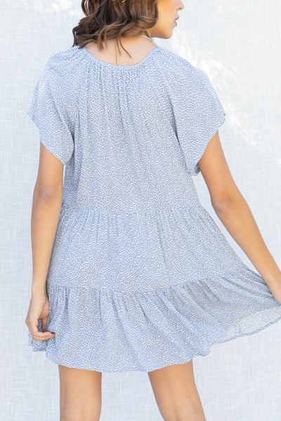 Melody Spotted Tiered Dress
