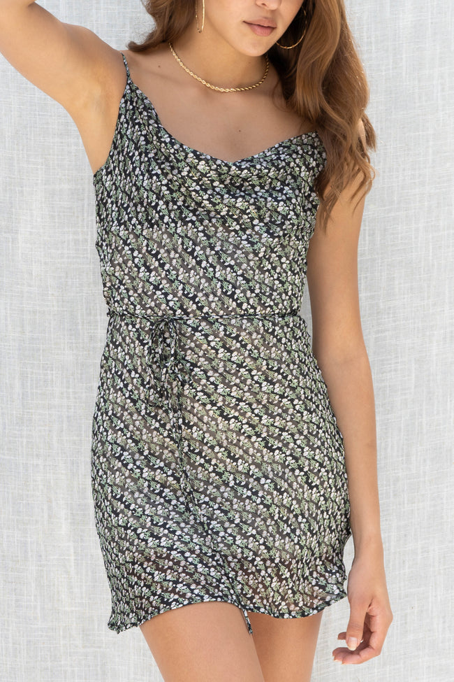Midsummer Dreams Cowl Neck Dress