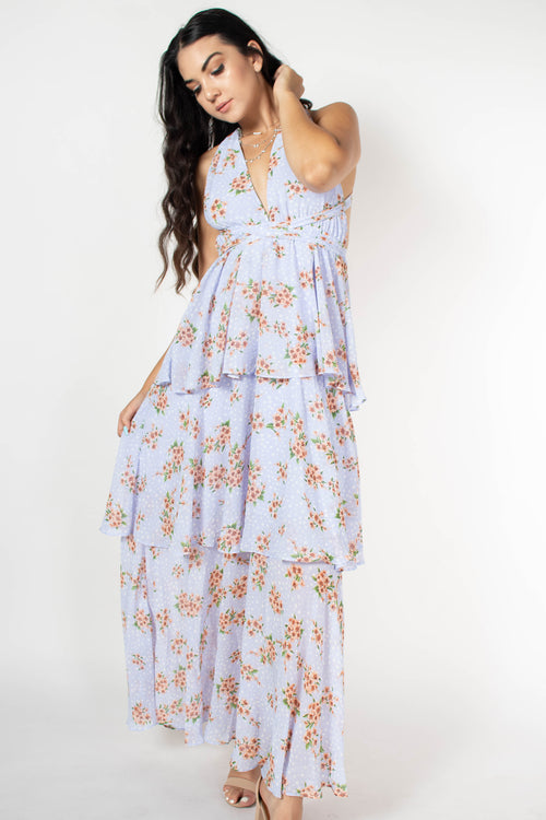 Mikayla Printed Tiered Dress