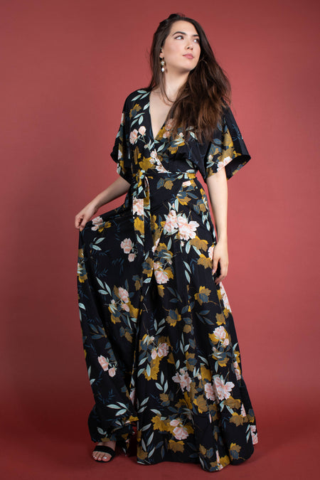 Giselle Satin Maxi Dress