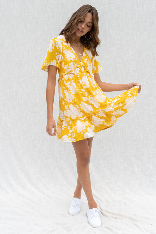 Emery Floral Ruffle Dress