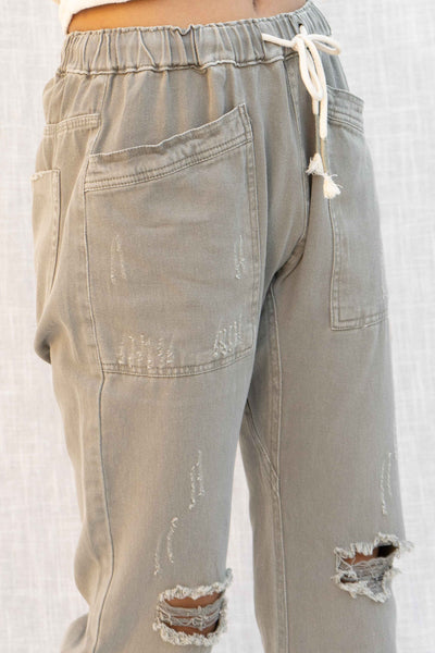 Alissa Distressed Front Pocket Pants