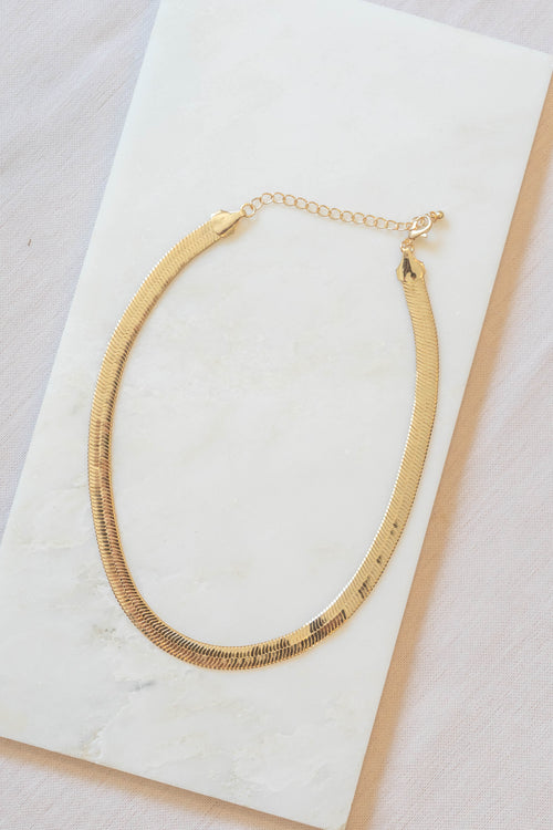 Wide Herringbone Necklace